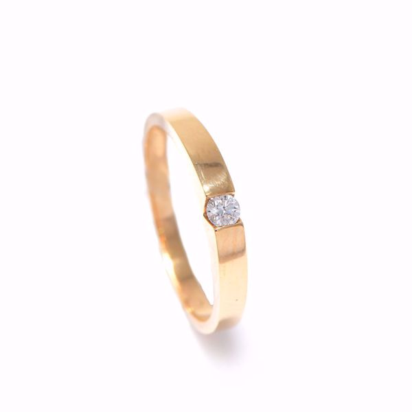 صورة Simple Diamond Solitaire Ring
