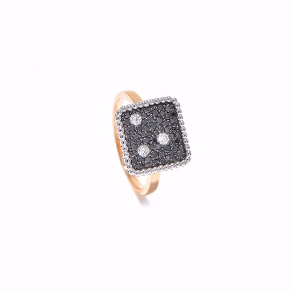 Picture of Elegant Black & White Diamond Ring