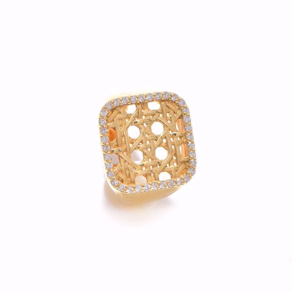 Picture of Enterlaced Pinky Square Diamond Ring