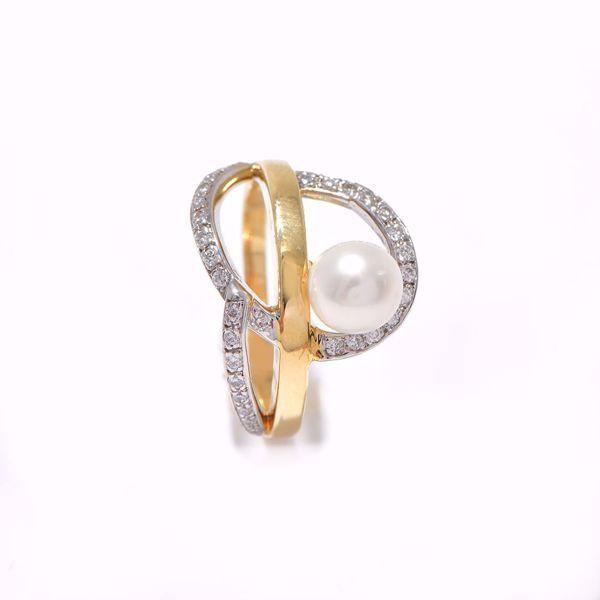 صورة Fancy Pearl & Diamond Ring
