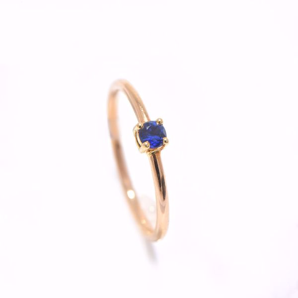 Picture of Simple Tiny Sapphire Ring