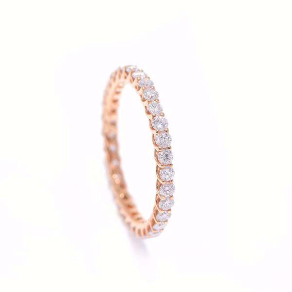 Picture of Pure White Diamond Alliance Ring