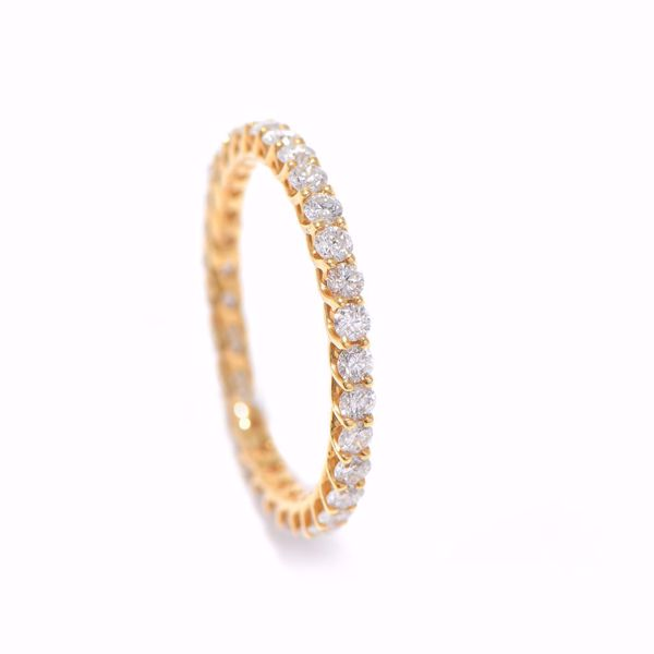 Picture of Magnificent Yellow Gold & Diamond Alliance Ring