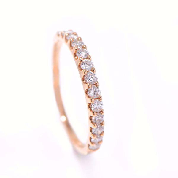 Picture of Shinny Half-Turn Diamond Alliance Ring
