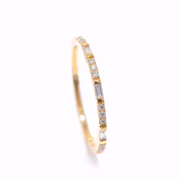 Picture of Simple  Yellow Gold & Diamond Alliance Ring