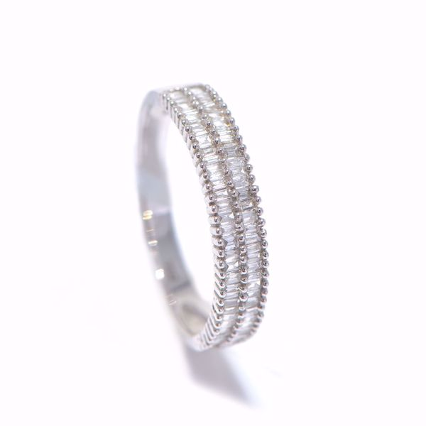 Picture of Alluring Parallel White Diamond Alliance Ring