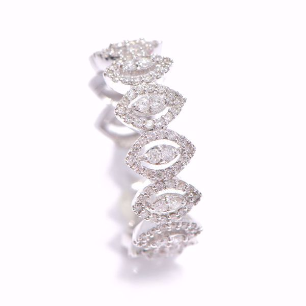 Picture of The Multi Eye Shape Diamond Alliance Ring