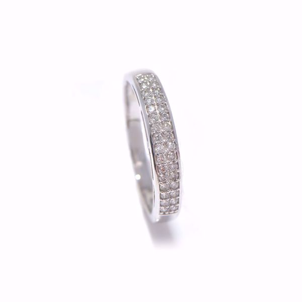 Picture of Winsome White Diamond Alliance Ring