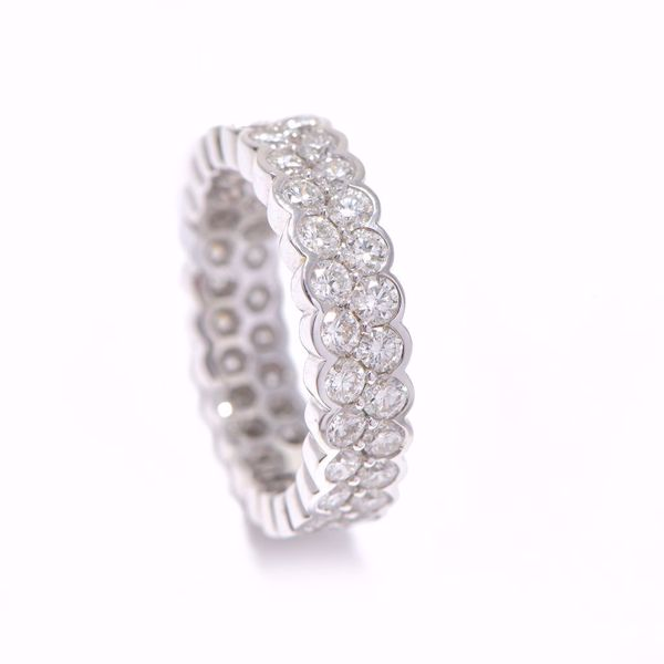 Picture of Double Band White Diamond Alliance Ring
