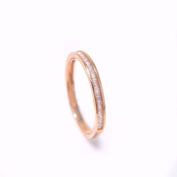 Picture of Trendy Pink Gold & Diamond Alliance Ring