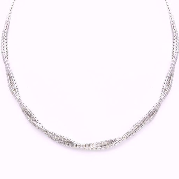 Picture of Shinny Braided Diamond Necklace