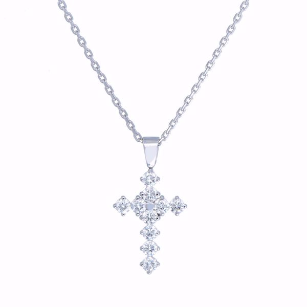 Picture of Shiny White Diamond Cross