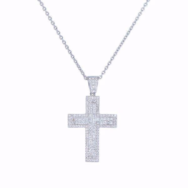 Picture of Classic White Diamond Cross