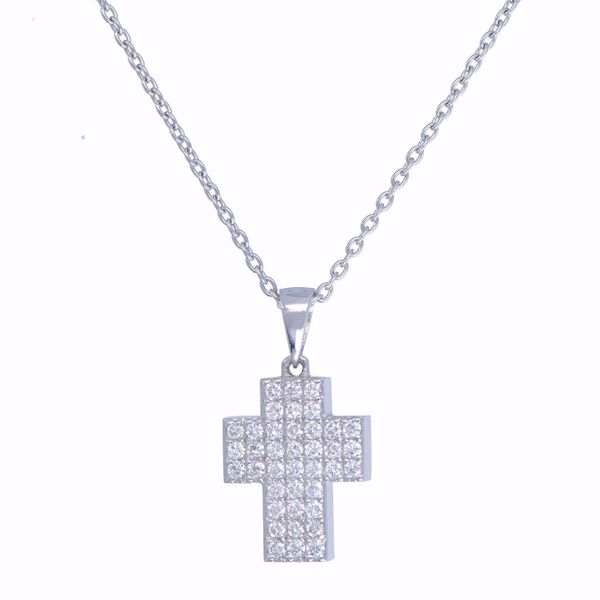 Picture of Lovely Cross Diamond Necklace