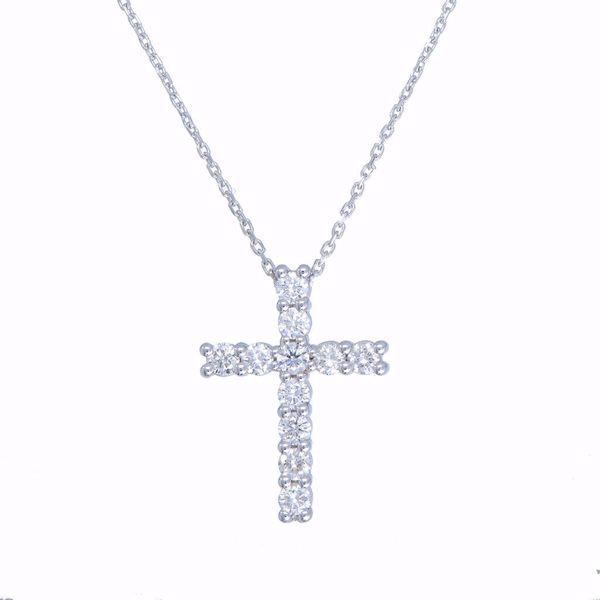 Picture of Classic White Diamond Cross Necklace