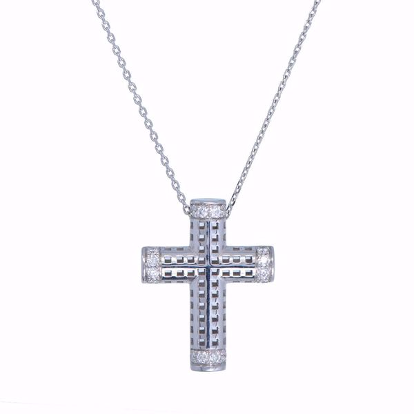 Picture of White Gold & Diamond Cross Necklace