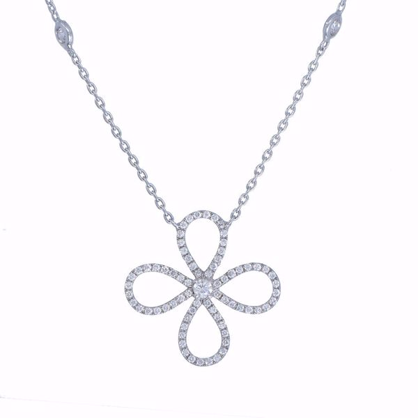 Picture of The Curvy Diamond Cross Necklace