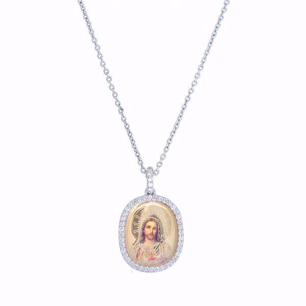 Picture of Diamond Jesus Icon Necklace