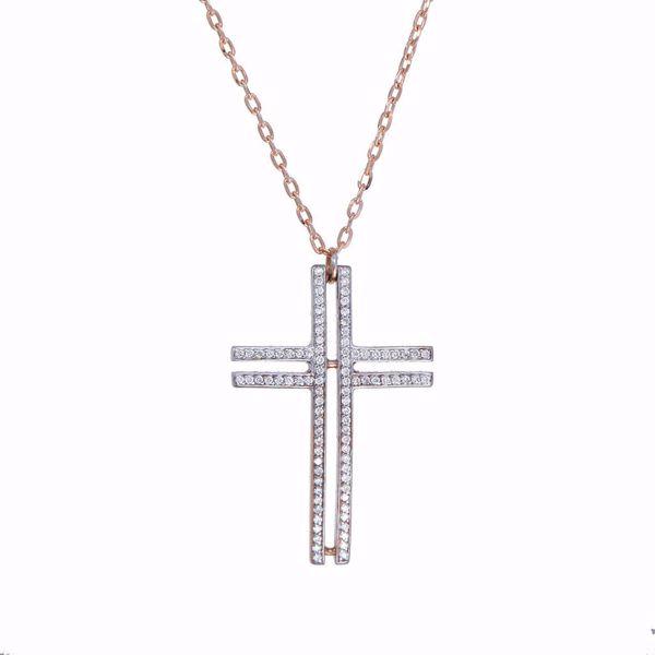 Picture of Classy White Diamond Cross
