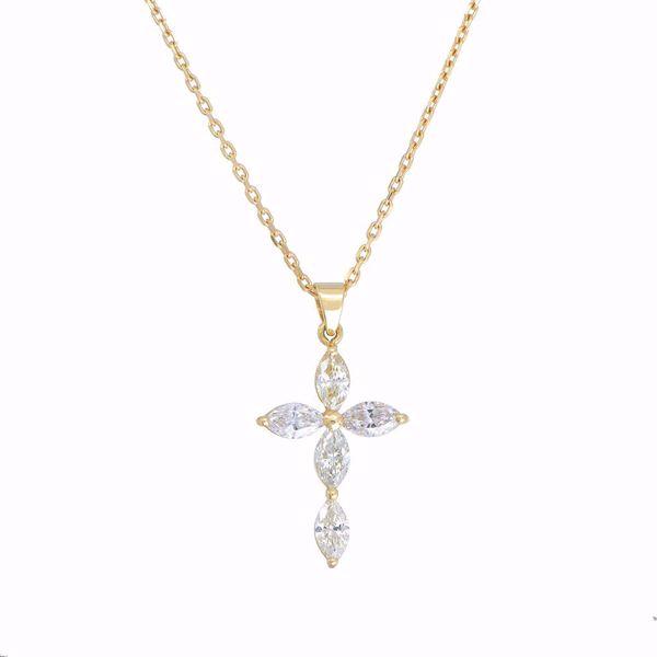 Picture of Fancy Diamond Cross Necklace