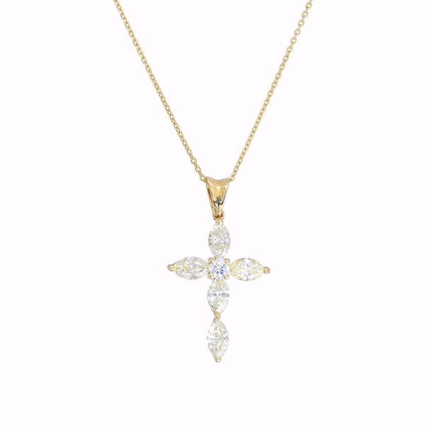 Picture of Fancy  Diamond Cross Necklace