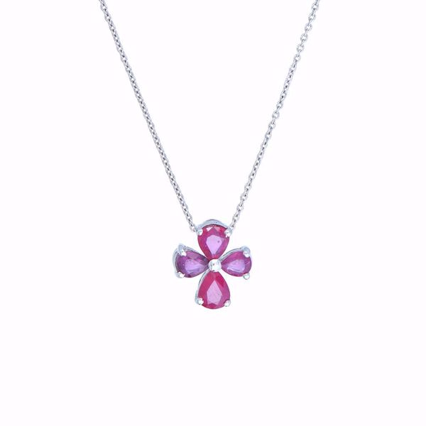Picture of Lovely Ruby Cross Necklace