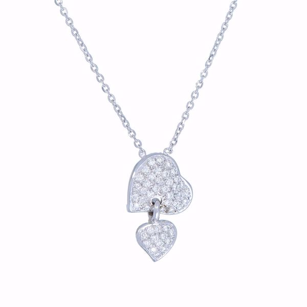 Picture of Engaging White Heart Diamond Necklace