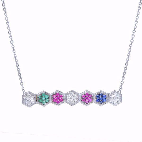 Picture of The Distinctive Four Gemstones Necklace