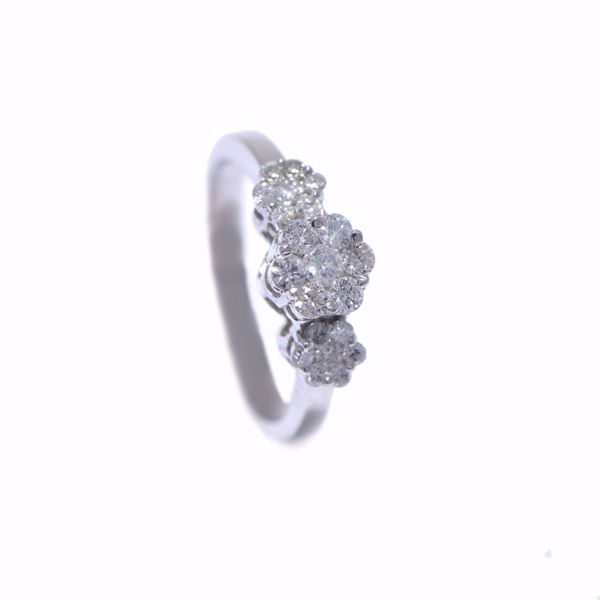 Picture of The Triple Flower Illusion Diamond Ring