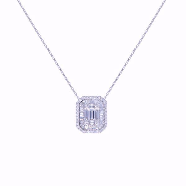 Picture of Fancy White Diamond Pendant