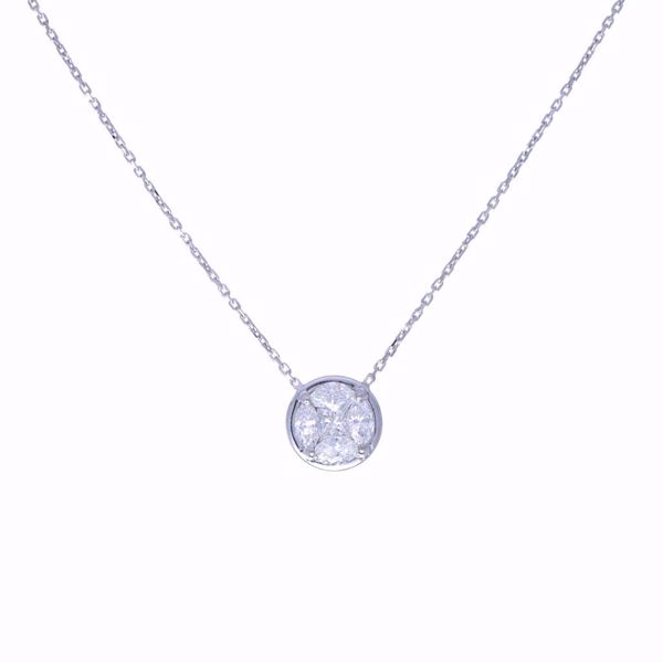 Picture of Timeless White Diamond Illusion Necklace