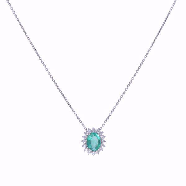 Picture of Brilliant Emerald & White Diamond Necklace
