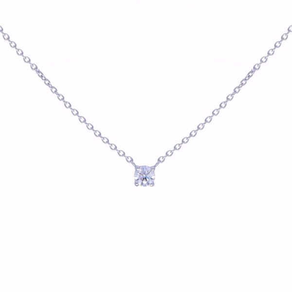 Picture of Classy One stone White Diamond Necklace