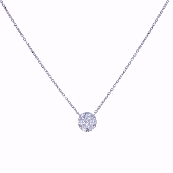 Picture of Lovely White Diamond Illusion Necklace