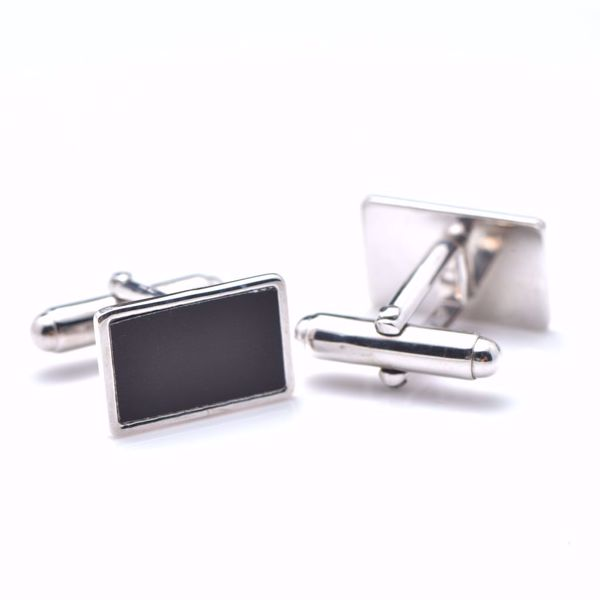 Picture of Black & White Silver Cufflinks
