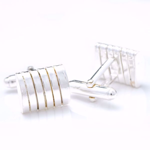Picture of White Silver Cufflinks