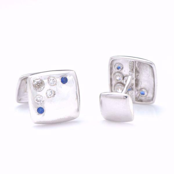 Picture of Sapphire & Diamond Cufflinks