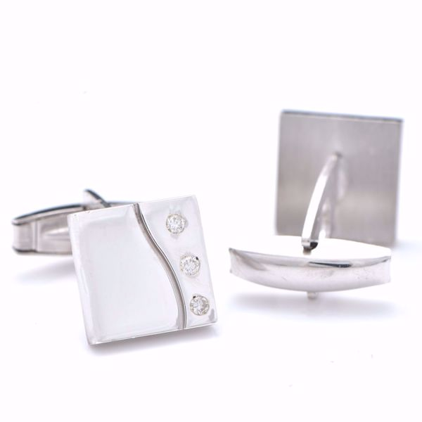 Picture of White Cufflinks