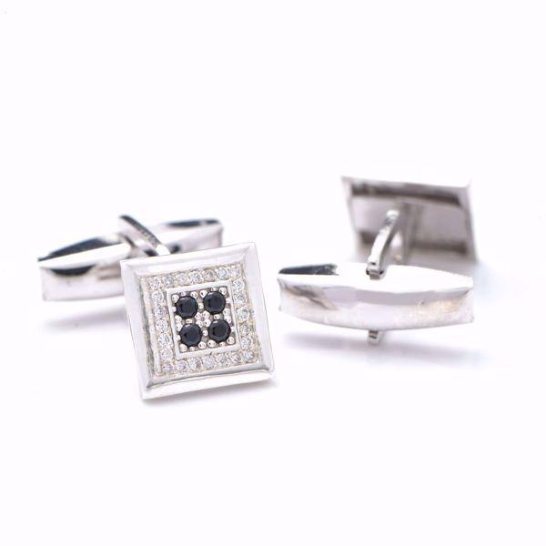 Picture of Square White Diamond Cufflinks