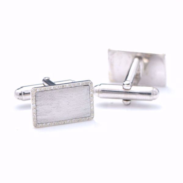 Picture of White Rectangle Cufflinks