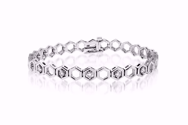 Picture of Stylish Diamond Bangle Bracelet
