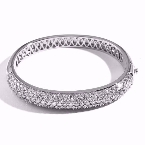Picture of Fancy White Diamond Bangle Bracelet