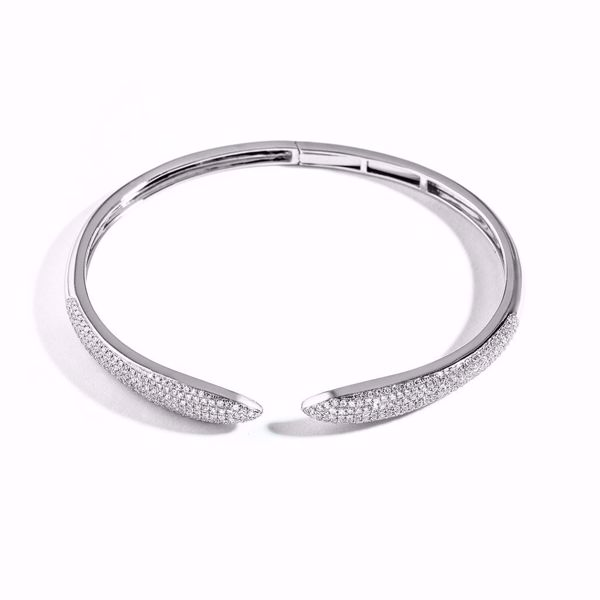 Picture of White Diamond Bangle Bracelet