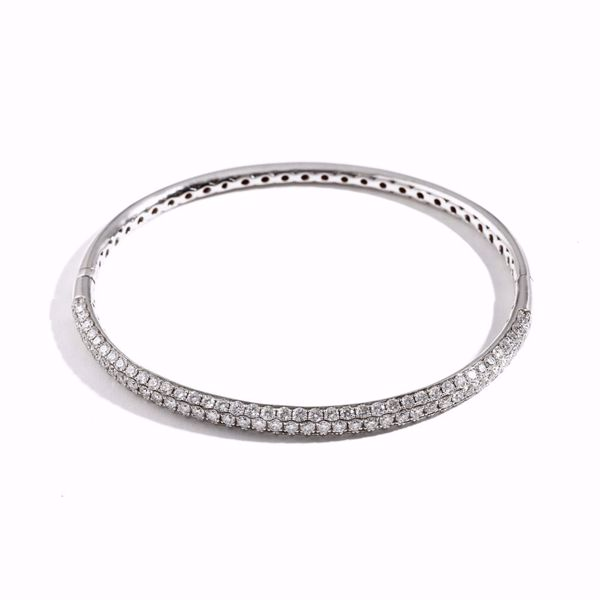 Picture of White Diamond Bangle Bracelet