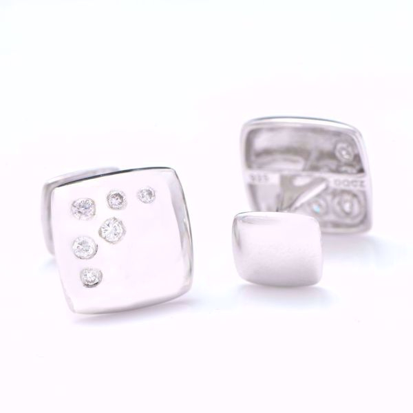 Picture of Diamond & Silver Cufflinks