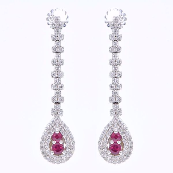Picture of Ruby & Diamond Earrings
