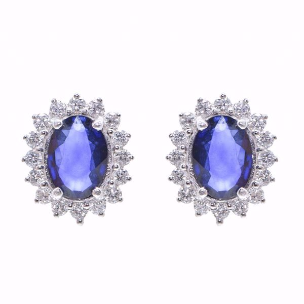 Picture of Sapphire & Diamond Earrings