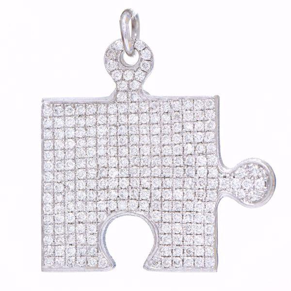Picture of White Diamond Puzzle Pendant