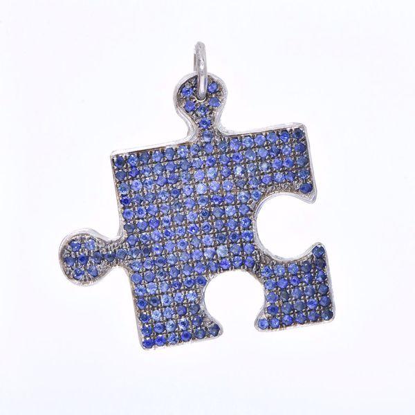 Picture of Cute Sapphire Puzzle Pendant