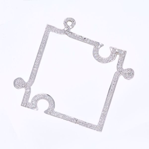 Picture of Cute White Diamond Puzzle Pendant